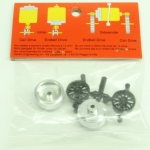 #103 Slot It Aluminium light Wheels with plastic insert ProAxle System (2)