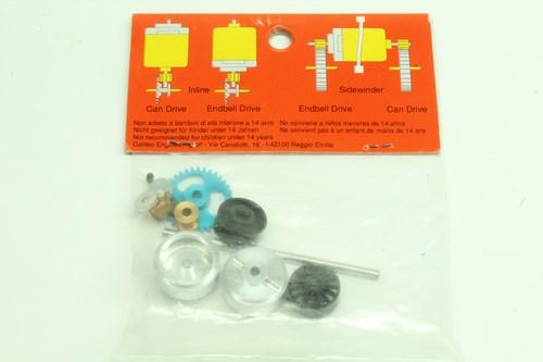 #104 Slot It Starter Kit 05 Z34 D18 Spur Gear Small Hubs KK05 ProAxale System (2)