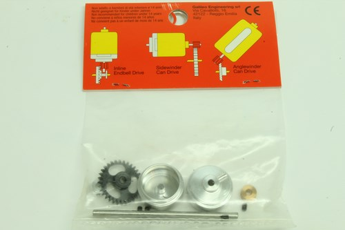 #96 Slot It Starter Kit 09 AW Z32 Pinion Z12 17.3×9.75mm wheels KK09D ProAxle System (2)