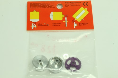 #99 Slot It Starter Kit 15 Z36 D19 Spur Gear 17.3×8.2mm wheels KK15b ProAxle System (NO AXLE) (2)